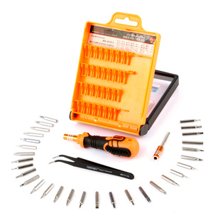 Repair kit with smooth handset and 33 pcs for Iphone, Ipad, Samsung, computers etc in a practical case